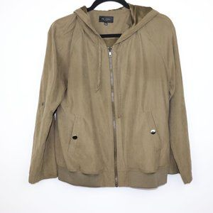 Be Cool Los Angeles Olive Green Bomber Jacket With Hood